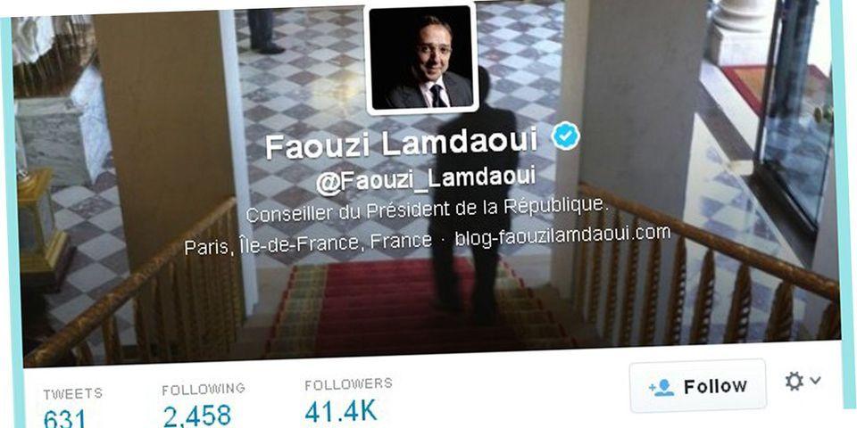 Le conseiller de François Hollande Faouzi Lamdaoui voit son nombre d'abonnés sur Twitter exploser... mais dément tout achat de followers