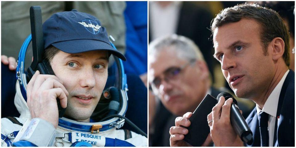 Le coup de fil d'Emmanuel Macron à Thomas Pesquet moins de 30 minutes après son atterrissage