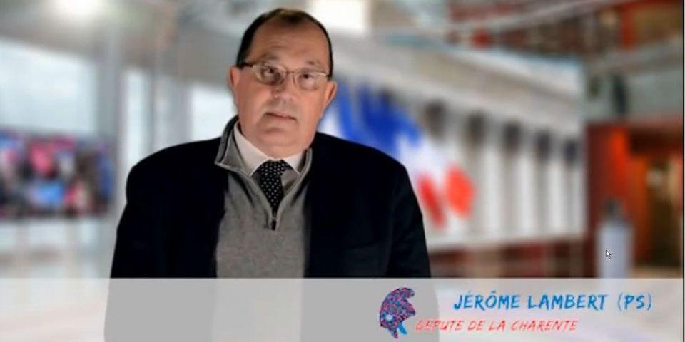 Le député PS Jérôme Lambert apporte de nouveau son soutien à la Manif pour Tous