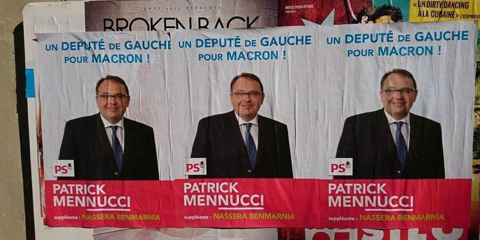 """Le député PS Patrick Mennucci dénonce une """"manipulation"""" de la France insoumise sur ses affiches de campagne"""