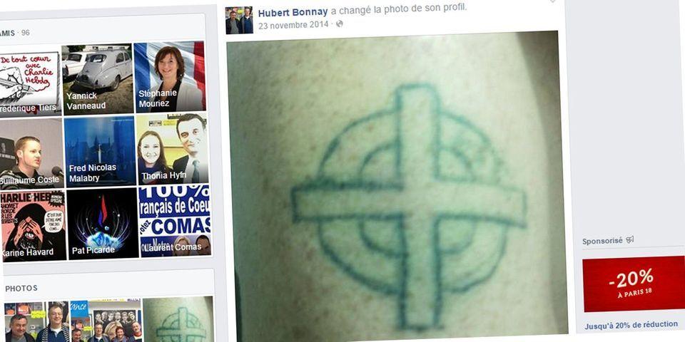 Le drôle de tatouage d'un candidat FN aux élections départementales
