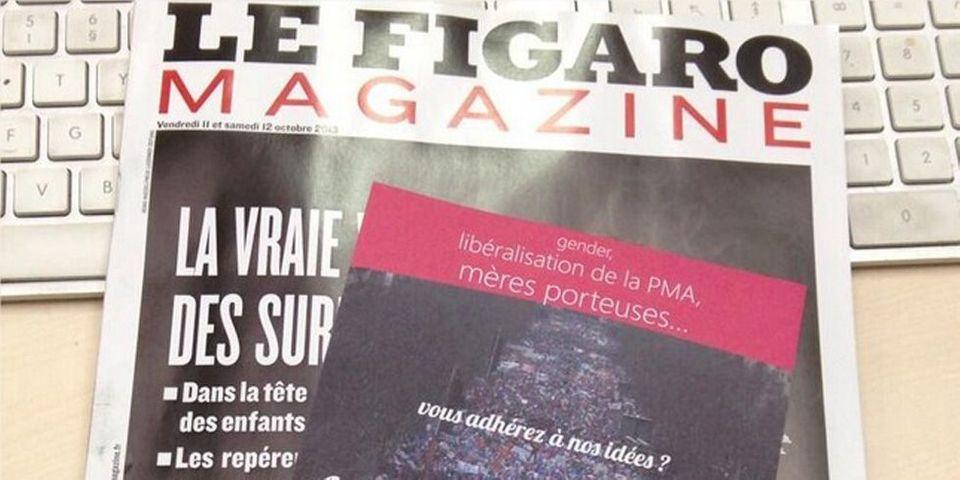 """Le Figaro Magazine distribue un bulletin d'adhésion à la """"Manif pour tous"""""""