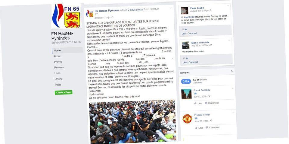 Le FN diffuse publiquement l'adresse d'appartements occupés par des migrants à Lourdes