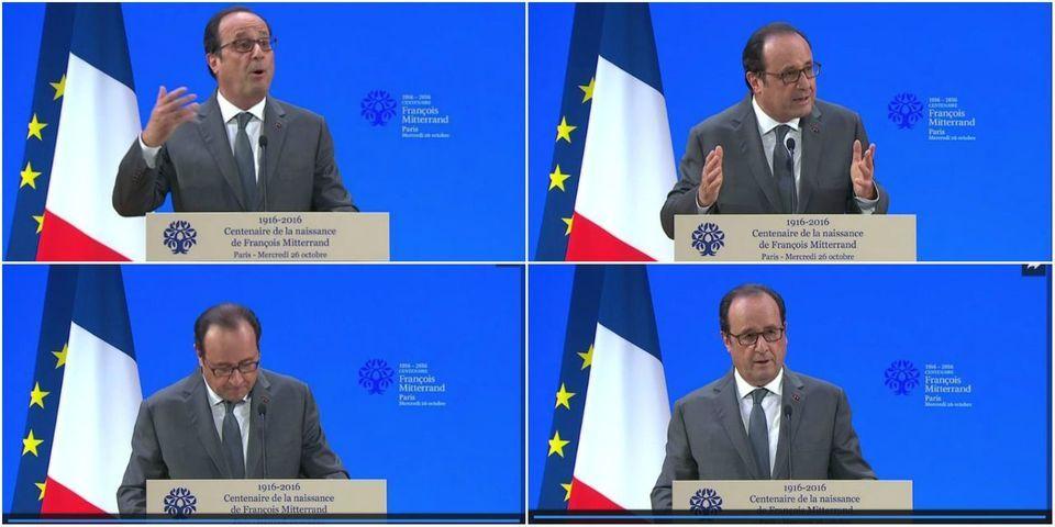 """Le gros parallèle de Hollande sur Mitterrand, """"qui a subi critiques, contestations, outrages et outrances"""""""
