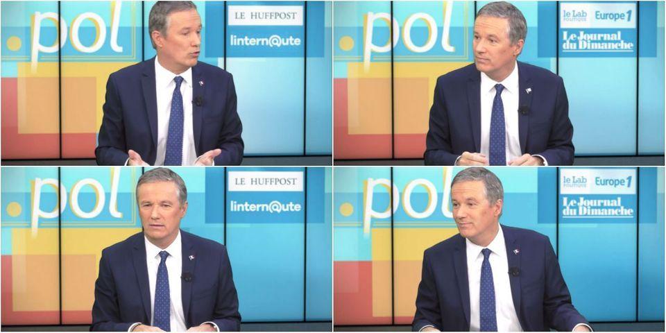 Le gros point Godwin de Nicolas Dupont-Aignan, interrogé sur Emmanuel Macron