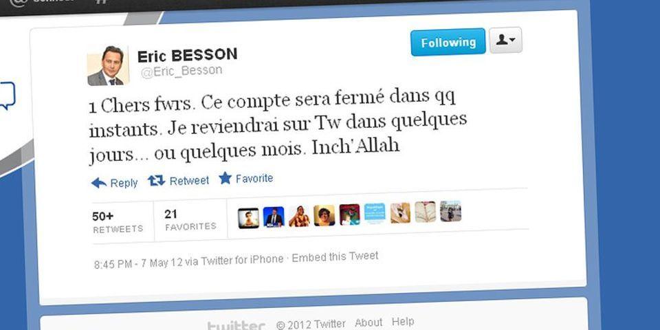 Le hara-kiri de Besson sur Twitter