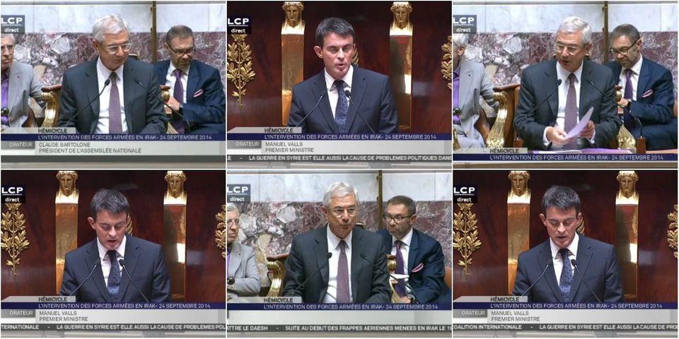 """Le lapsus de Manuel Valls, qui donne du """"monsieur le président de la République"""" à Claude Bartolone"""