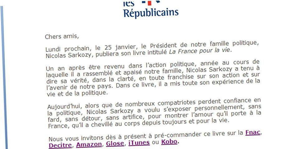 Le Mail De Lr Qui Invite Les Militants A Precommander Le