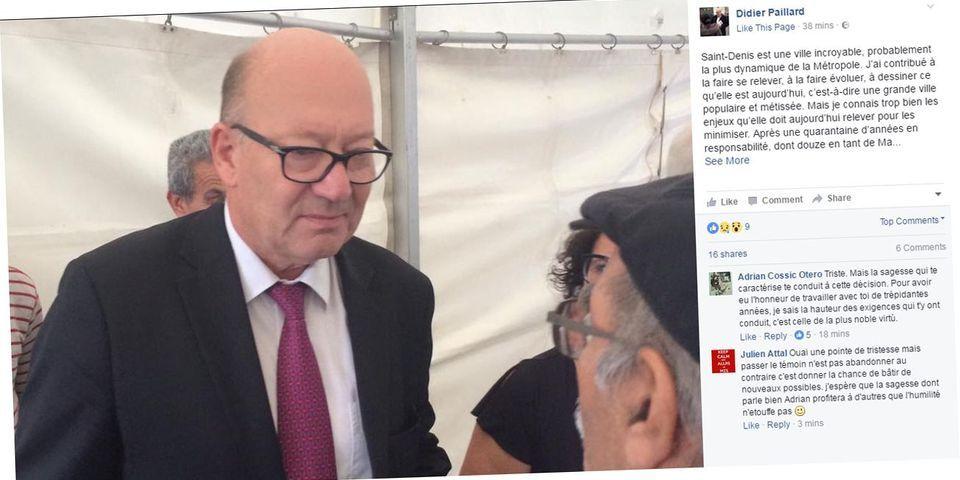 Le maire PCF de Saint-Denis, Didier Paillard, annonce sa démission sur Facebook