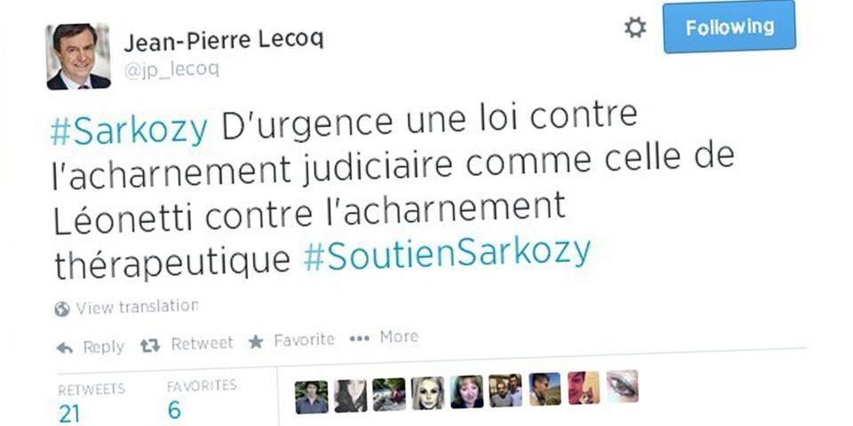 """Le maire UMP du 6e arrondissement de Paris demande une loi """"contre l'acharnement judiciaire"""" sur le modèle de la loi contre l'acharnement thérapeutique"""