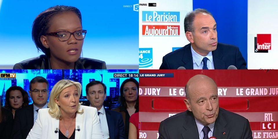 Le multiplex politique du 11 mai avec Marine Le Pen, Alain Juppé, Jean-François Copé et Rama Yade