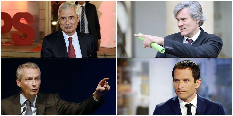 Le multiplex politique du 12 avril avec Bartolone, Le Foll, Le Maire et Hamon