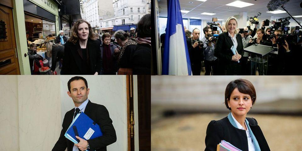 Le multiplex politique du 2 mars: Nathalie Kosciusko-Morizet, Marine Le Pen, Benoit Hamon et Najat Vallaud-Belkacem