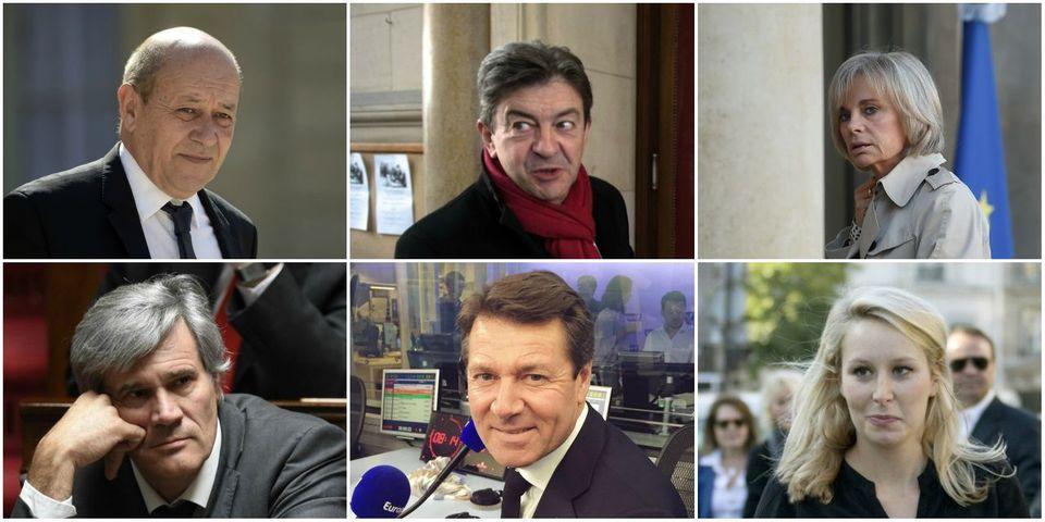 Le multiplex politique du 22 novembre avec Le Drian, Le Foll, Maréchal-Le Pen, Estrosi, Mélenchon et Guigou