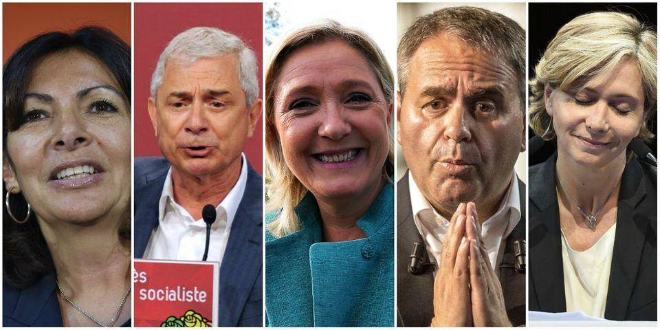 Le multiplex politique du 27 septembre avec Hidalgo, Bartolone, Marine Le Pen, Bertrand, Fillon et Pécresse