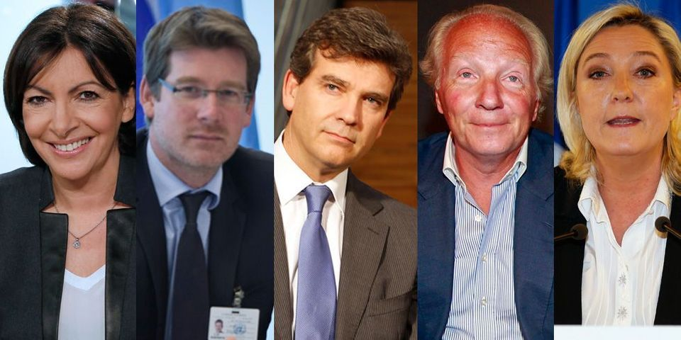 Le multiplex politique du dimanche 23 février : Anne Hidalgo, Brice Hortefeux, Arnaud Montebourg, Marine Le Pen et Pascal Canfin