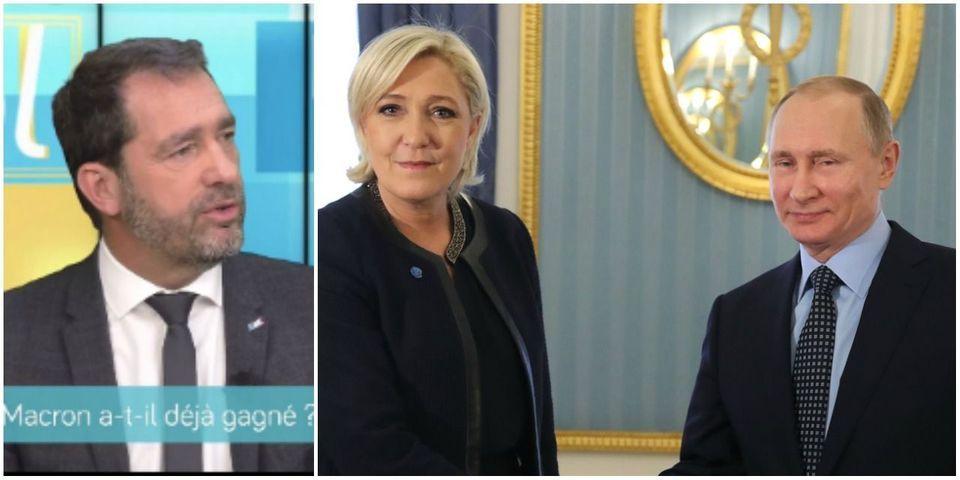 """""""Le parti de l'étranger aujourd'hui, c'est le Front national"""" : Christophe Castaner (En Marche !) estime que le FN est soumis à Vladimir Poutine"""