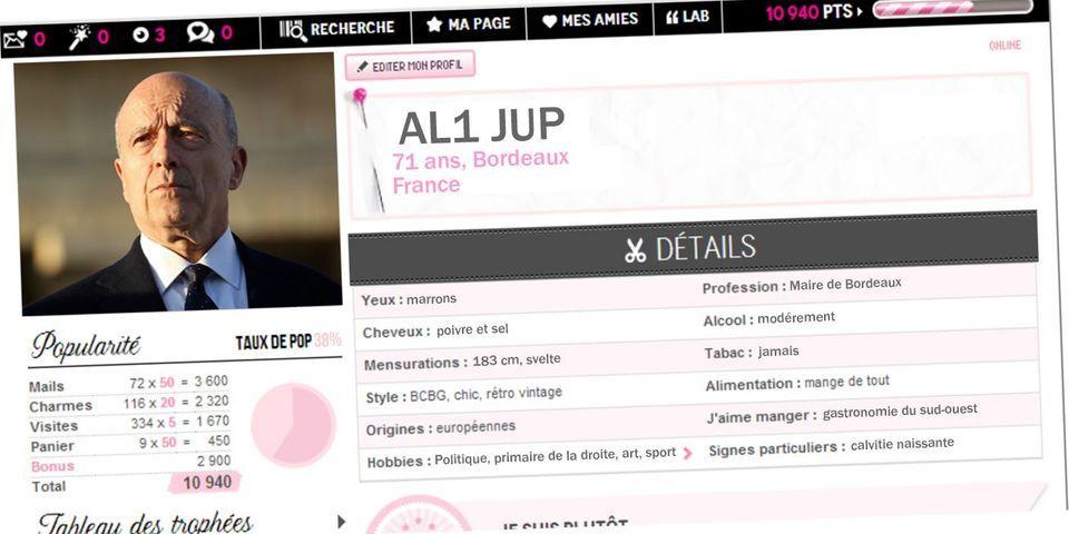Le profil *Adopte un président* d'Alain Juppé