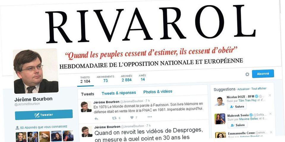 """Le PS condamne le """"déchaînement antisémite"""" du patron du journal """"Rivarol"""" (et demande la fermeture de son compte Twitter)"""
