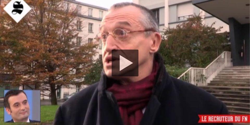 """Le """"recruteur"""" du Rassemblement Bleu Marine pris en flagrant délit de mensonge à un journaliste de Canal Plus"""