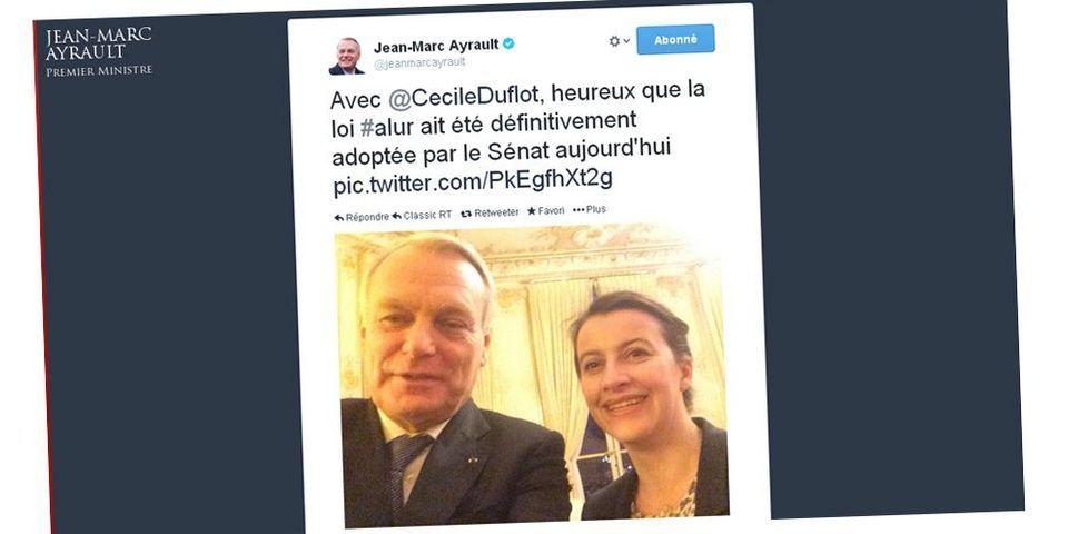 Le selfie de Jean-Marc Ayrault pour fêter l'adoption de la loi ALUR