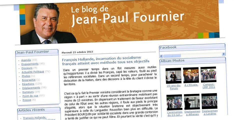 Le sénateur-maire UMP de Nîmes, Jean-Paul Fournier, accuse le gouvernement de favoritisme envers la Bretagne