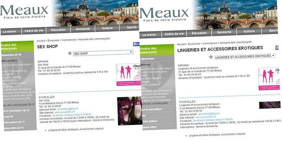 La ville de Meaux, commune de Jean-François Copé, fait disparaître toute référence aux sexshops sur son site