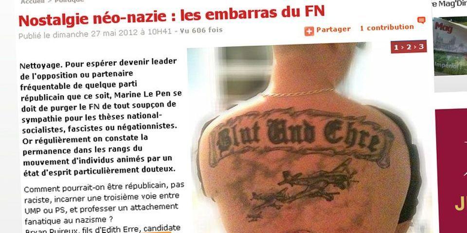 Le tatouage nazi que ne condamne pas le FN