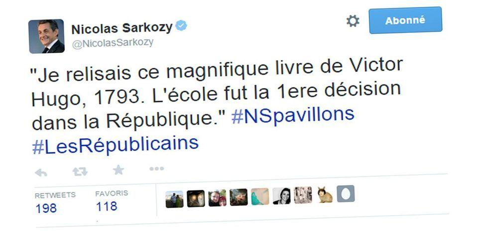 Le tweet fail, moqué, du compte de Nicolas Sarkozy sur un livre de Victor Hugo