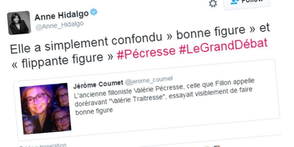 """Le tweetfail d'Anne Hidalgo qui moque la """"flippante figure"""" de Valérie Pécresse pendant le débat"""