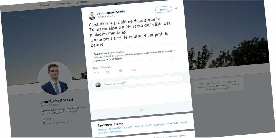 """Législative partielle à Belfort : quand le candidat FN évoquait le """"problème"""" du retrait de la transsexualité de la """"liste des maladies mentales"""""""