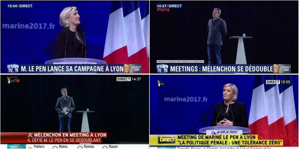L'entreprise qui a réalisé l'hologramme de Jean-Luc Mélenchon a refusé de le faire pour Marine Le Pen