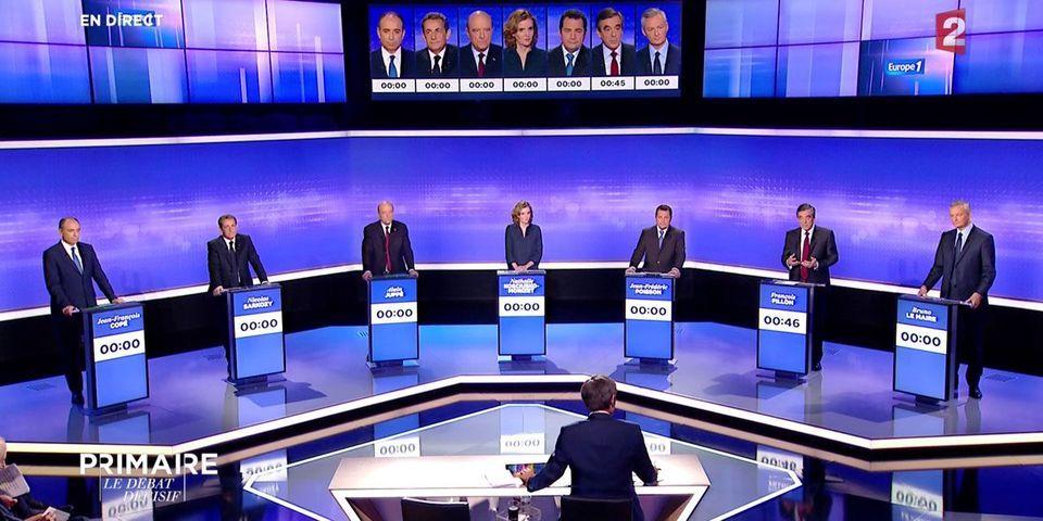 Les 8 moments improbables du dernier débat de la primaire de la droite