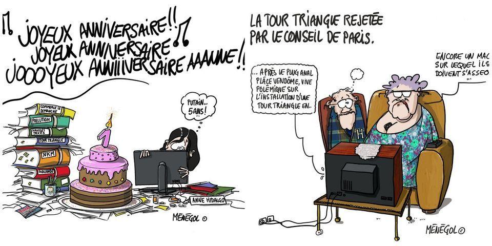 Les caricatures du camp NKM pour critiquer la première année d'Anne Hidalgo à Paris