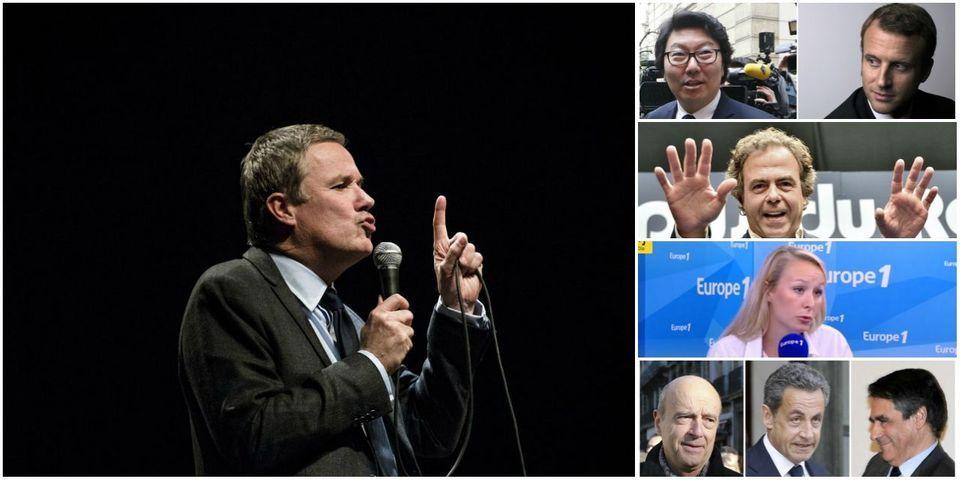 Les critiques de Nicolas Dupont-Aignan envers la politique étrangère de François Hollande, sujet le moins lu de la semaine