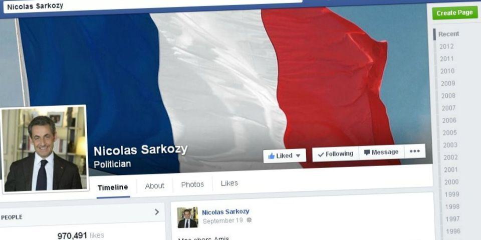 Les nouvelles approximations de Nicolas Sarkozy sur les performances de son post Facebook