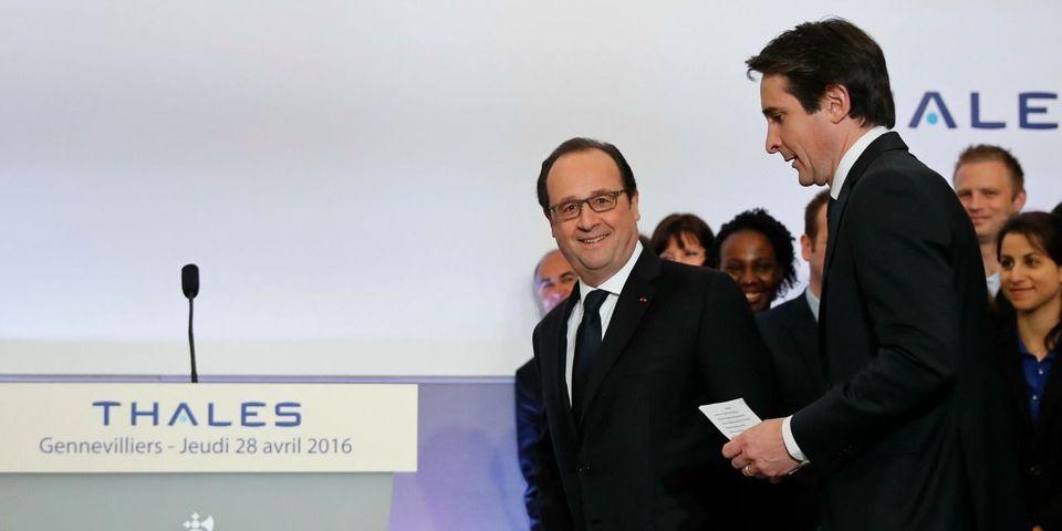 Les petites blagues de François Hollande sur la croissance de Thalès, celle de la France et son avenir post-2017