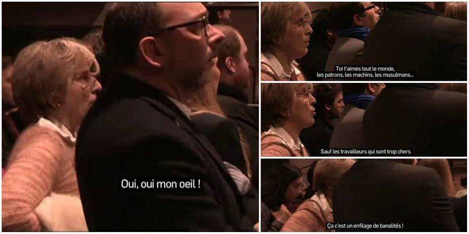 Les petits commentaires ironiques de Marie-Noëlle Lienemann pendant un discours de Manuel Valls