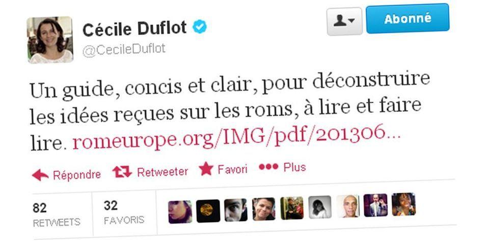 Les petits conseils subliminaux de Cécile Duflot à Manuel Valls sur les Roms
