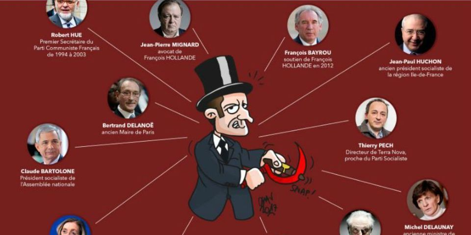 Les Républicains retirent de leur compte Twitter une caricature polémique d'Emmanuel Macron