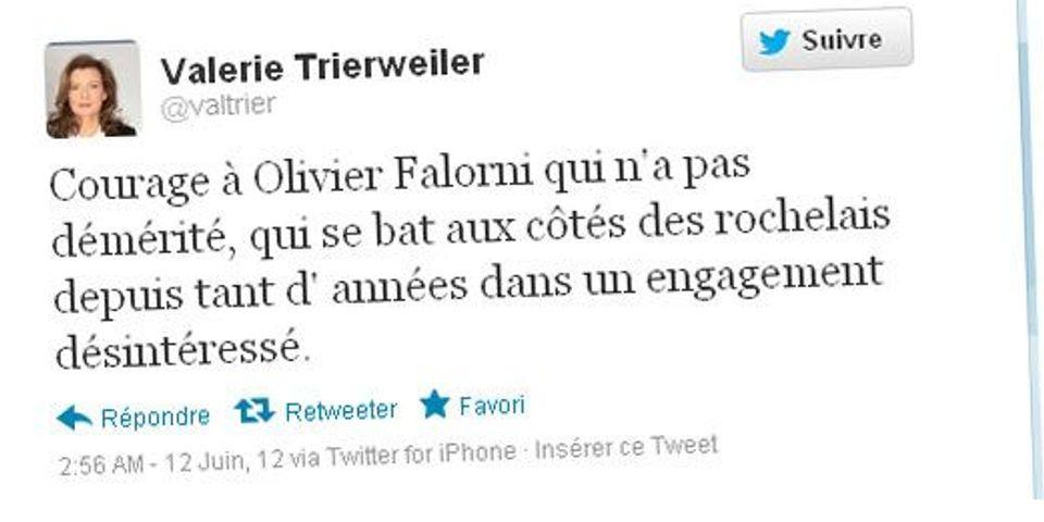 Le tweet de soutien de Trierweiler à Falorni, le sujet le plus lu de la semaine