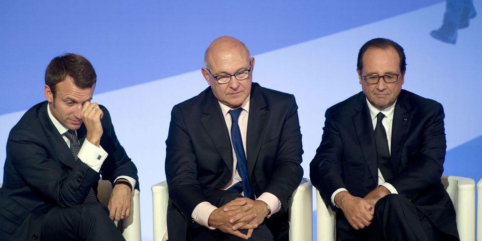 """Les vannes de François Hollande et Michel Sapin sur le """"En marche !"""" d'Emmanuel Macron"""