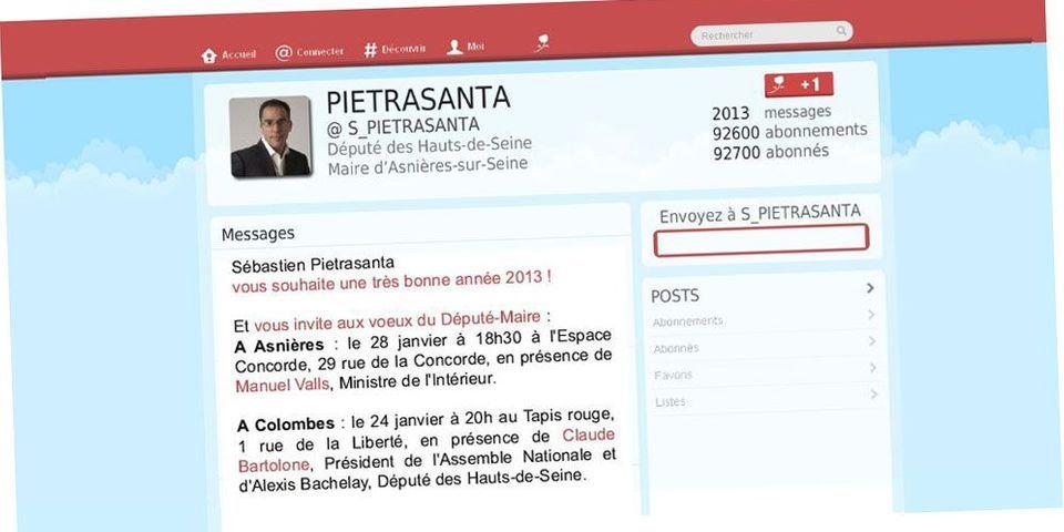 """Les vœux papiers en mode """"Twitter"""" d'un député PS"""