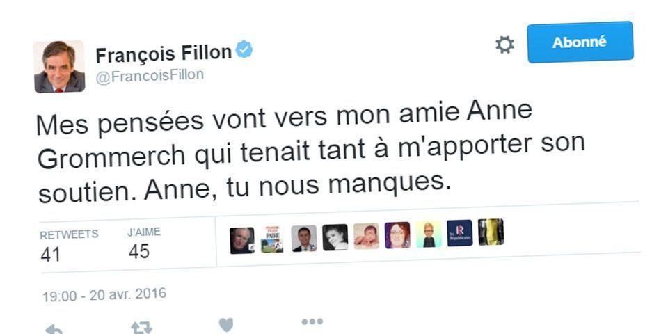 L'étrange message de François Fillon sur le soutien que tenait à lui apporter la députée Anne Grommerch, décédée le 15 avril