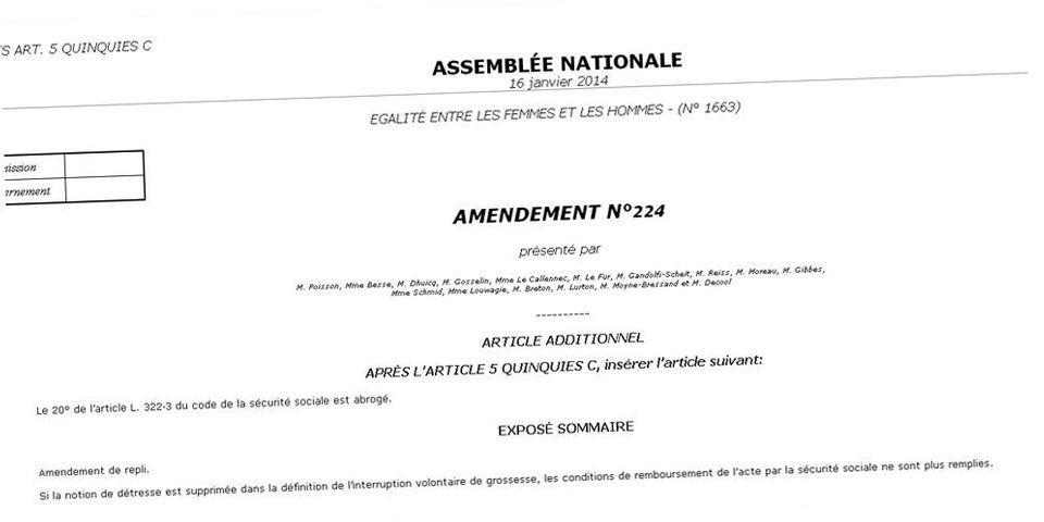 Loi sur l'égalité homme-femme : des députés UMP veulent dérembourser les IVG