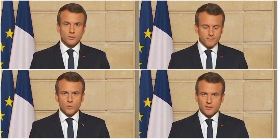 """Macron s'oppose fermement à Trump sur le climat et détourne son slogan de campagne : """"Make Our Planet Great Again"""""""