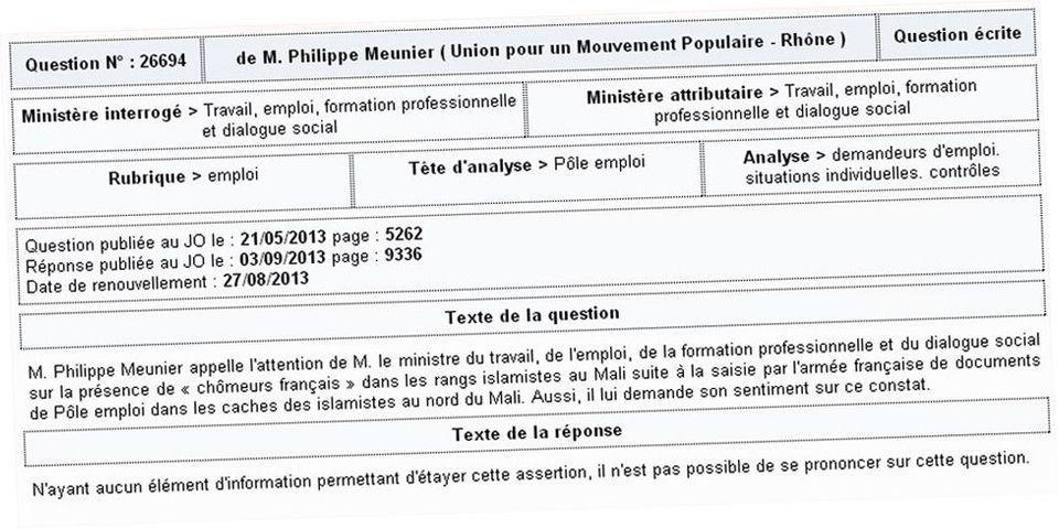 Mali Djihadistes Francais Et Pole Emploi Le Ministere Du Travail