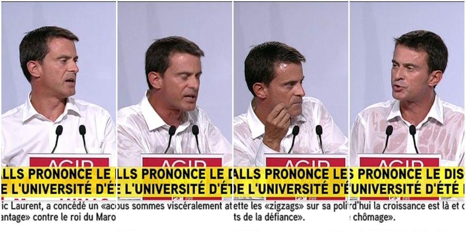 Manuel Valls fait applaudir Emmanuel Macron en clôture des universités d'été du PS