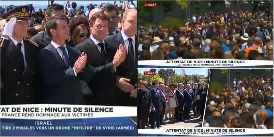 Manuel Valls hué et sifflé lors de l'hommage aux victimes de l'attentat de Nice