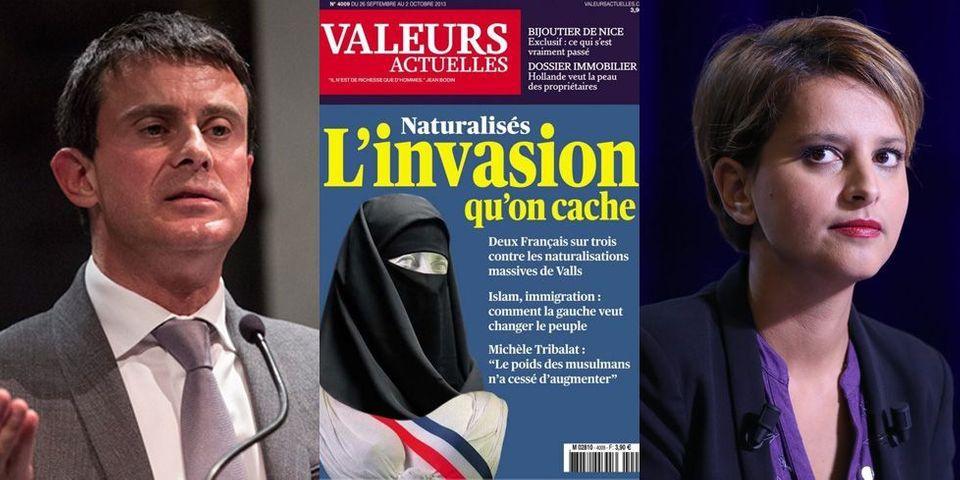 """Marianne voilée en une de Valeurs Actuelles : NVB """"révulsée"""", """"amalgame insupportable"""" pour Valls"""